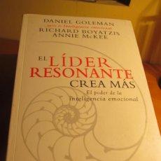Libros de segunda mano: EL LIDER RESONANTE CREA MAS. Lote 37209205