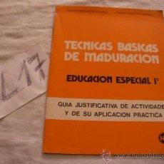 Libros de segunda mano: TECNICAS BASICAS DE MADURACION. Lote 39226219