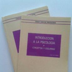 Libros de segunda mano: INTRODUCCION A LA PSICOLOGIA - DOS TOMOS - EDITORIAL RAMON ARECES. Lote 247432815