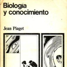 Libros de segunda mano: BIOLOGÍA Y CONOCIMIENTO. JEAN PIAGET. Lote 40125649