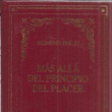 Libros de segunda mano: MÁS ALLÁ DEL PRINCIPIO DEL PLACER. SIGMUND FREUD. BIBLIOTECA NUEVA. BARCELONA. 2002. Lote 41130180