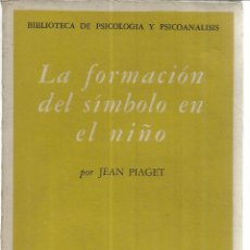 Libros de segunda mano: LA FORMACIÓN DEL SÍMBOLO EN EL NIÑO. JEAN PIAGET. FONDO DE CULTURA. MADRID. 1961. 1ª ED. ESPAÑOLA. Lote 41639579