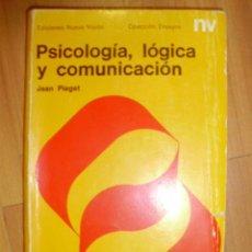 Libros de segunda mano: PSICOLOGÍA, LÓGICA Y COMUNICACIÓN (BUENOS AIRES, 1970). Lote 42295182