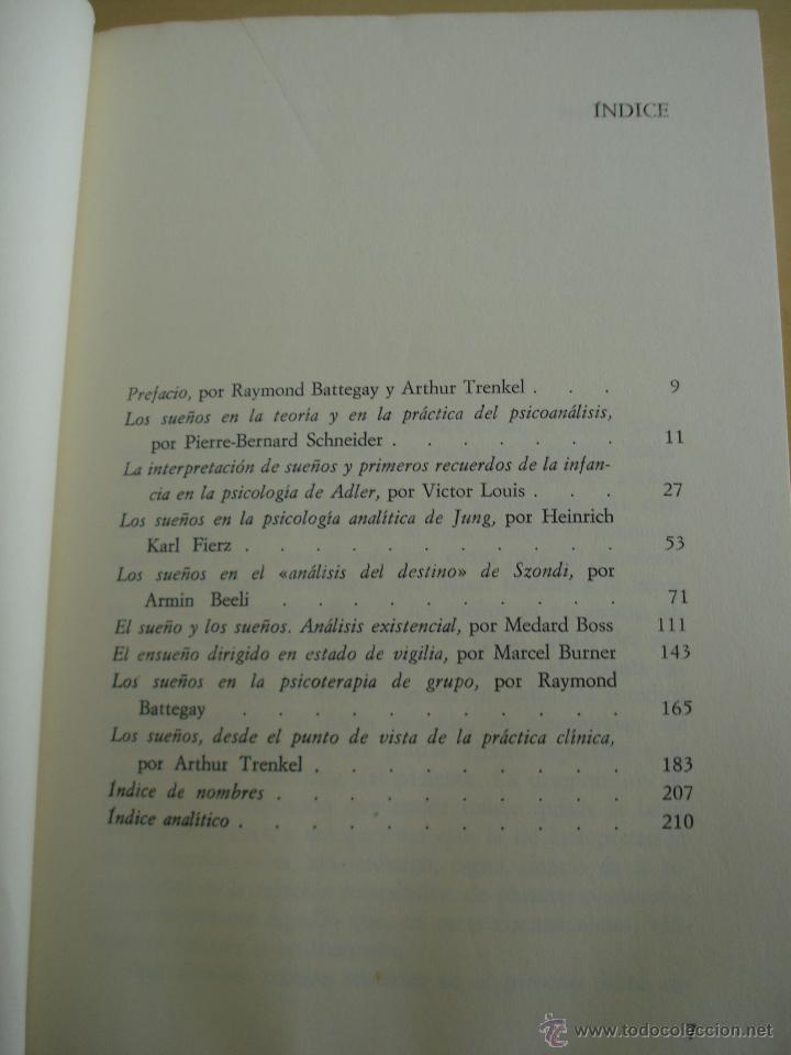 Libros de segunda mano: LOS SUEÑOS. RAYMOND BATTEGAY. ARTHUR TREKEL. BIBLIOTECA DE PSICOLOGÍA Nº59. EDITORIAL HERDER. - Foto 7 - 42371833