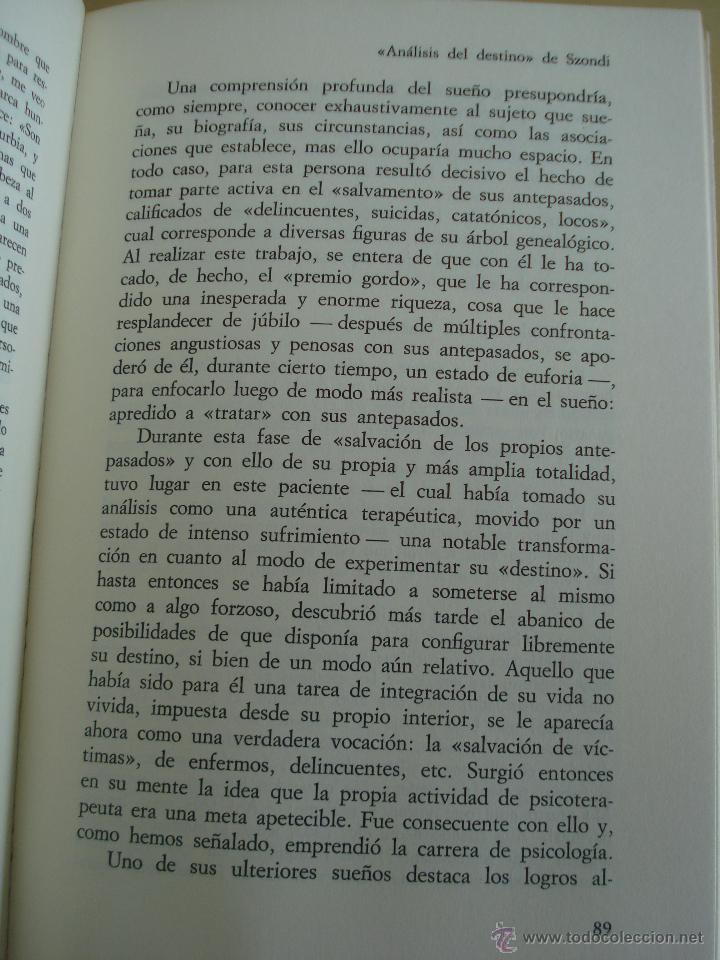 Libros de segunda mano: LOS SUEÑOS. RAYMOND BATTEGAY. ARTHUR TREKEL. BIBLIOTECA DE PSICOLOGÍA Nº59. EDITORIAL HERDER. - Foto 8 - 42371833