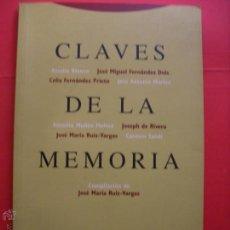 Libros de segunda mano: CLAVES DE LA MEMORIA.1977. Lote 42416774
