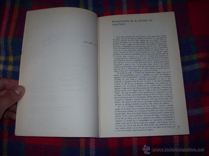 Libros de segunda mano: EL DESARROLLO COGNITIVO. JOHN H. FLAVELL.VISOR LIBROS.1ª EDICIÓN 1984.MAGNÍFICO EJEMPLAR.VER FOTOS. - Foto 3 - 43558514
