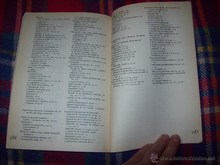 Libros de segunda mano: EL DESARROLLO COGNITIVO. JOHN H. FLAVELL.VISOR LIBROS.1ª EDICIÓN 1984.MAGNÍFICO EJEMPLAR.VER FOTOS. - Foto 15 - 43558514