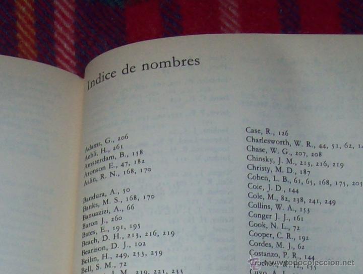 Libros de segunda mano: EL DESARROLLO COGNITIVO. JOHN H. FLAVELL.VISOR LIBROS.1ª EDICIÓN 1984.MAGNÍFICO EJEMPLAR.VER FOTOS. - Foto 17 - 43558514