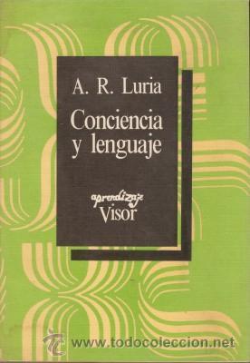 CONCIENCIA Y LENGUAJE - LURIA ALEXANDR ROMANOVICH - 1984 (MADRID) (Libros de Segunda Mano - Pensamiento - Psicología)
