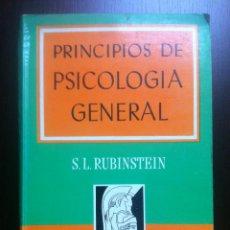 Libros de segunda mano: PRINCIPIOS DE PSICOLOGIA GENERAL - S.L. RUBINSTEIN - TRATADOS Y MANUALES GRIJALBO - MEXICO - 1967 -. Lote 43797305