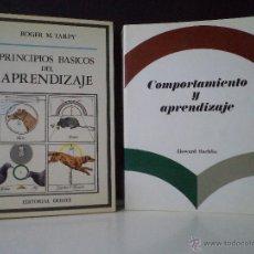 Libros de segunda mano: COMPORTAMIENTO Y APRENDIZAJE. RACHLIN, HOWARD / PRINCIPIOS BÁSICOS DEL APRENDIZAJE. TARPY, ROGER M.. Lote 43903608