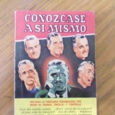 Libros de segunda mano: CONOZCASE A SI MISMO, POR JAIME VICENS CARRIO - BRUGUERA - PRIMERA EDICION - 1956. Lote 44018095