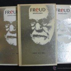 Libros de segunda mano: FREUD EPISTOLARIO. 3 VOL. VOL. I (1873-1883) VOL.II (1884-1909)VOL3 (1910-1939) ED. ORBIS 1988.. Lote 44782054