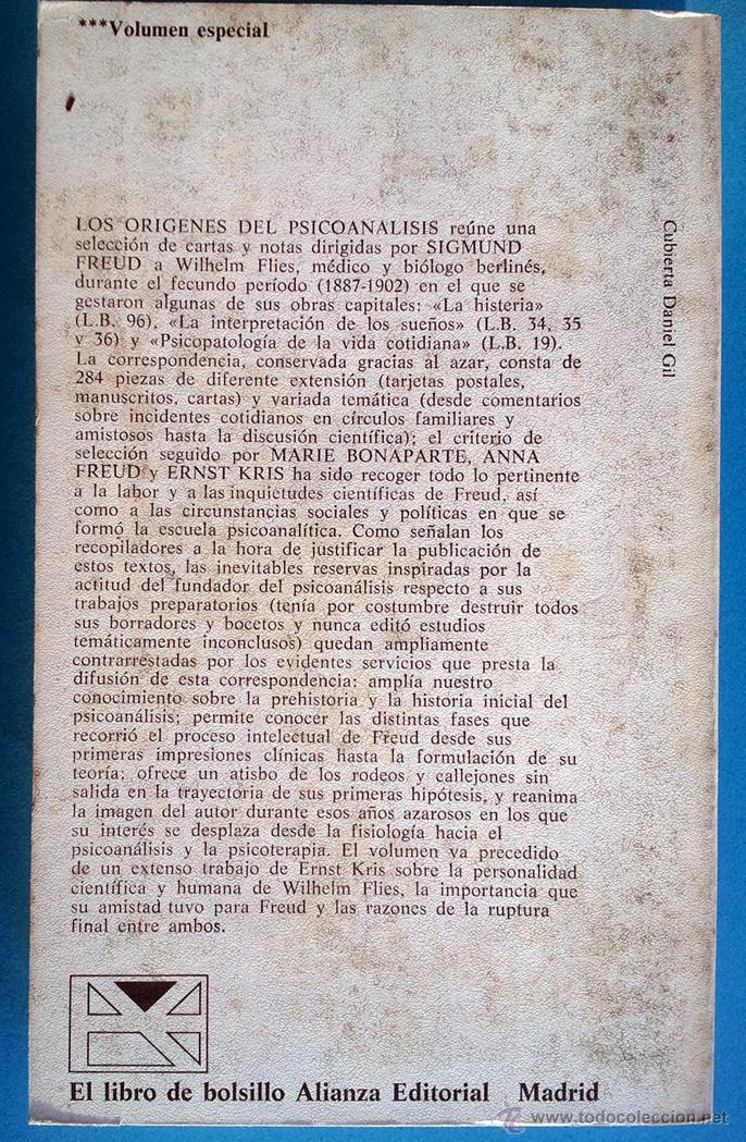 Libros de segunda mano: SIGMUND FREUD . LOS ORÍGENES DEL PSICOANÁLISIS. CORRESPONDENCIA CON FLIESS - Foto 2 - 44791066