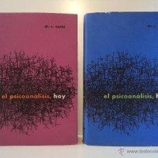 Libros de segunda mano: EL PSICOANÁLISIS HOY. TOMOS 1 Y 2: OBRA COMPLETA. S. NACHT. LUIS MIRACLE, EDITOR, 1959, PRIMERA EDIC. Lote 45716765