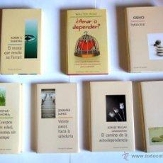 Libros de segunda mano: LOTE DE SIETE LIBROS DE AUTOAYUDA - R. S. SHARMA/W. RISO/OSHO/D. CHOPRA/J. JAMES/J. BUCAY/B. WEIS. Lote 46101275