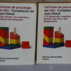 Libros de segunda mano: LECTURAS DE PSICOLOGÍA DEL NIÑO (DOS VOLÚMENES). Lote 46140936