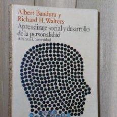 Libros de segunda mano: APRENDIZAJE SOCIAL Y DESAROOLLO DE LA PERSONALIDAD.. Lote 46141178