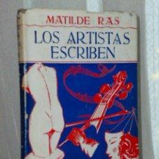 Libros de segunda mano: LOS ARTISTAS ESCRIBEN. EL TEMPERAMENTO VISUAL Y EL TEMPERAMENTO AUDITIVO. Lote 46320259