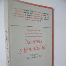 Libros de segunda mano: NEUROSIS Y GENIALIDAD,JOHANNES CREMERIUS,1979,TAURUS ED,REF ENSAYO EST 2C3. Lote 46729158
