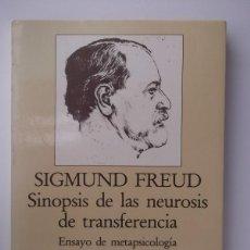 Libros de segunda mano: FREUD, SIGMUND: SINOPSIS DE LAS NEUROSIS DE TRANSFERENCIA (ARIEL) (CB). Lote 46938035
