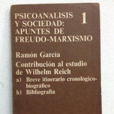 Libros de segunda mano: PSICOANALISIS Y SOCIEDAD : APUNTES DE FREUDO-MARXISMO. Lote 47361991