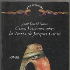 Libros de segunda mano: CINCO LECCIONES SOBRE LA TEORÍA DE JACQUES LACAN · PSICOANÁLISIS. Lote 47375164
