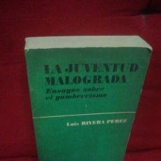 Libros de segunda mano: LUIS RIVERA PÉREZ: LA JUVENTUD MALOGRADA. ENSAYOS SOBRE EL GAMBERRISMO. Lote 47733927