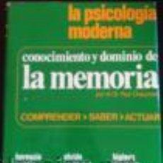 Libros de segunda mano: CONOCIMIENTO Y DOMINIO DE LA MEMORIA. CHAUCHARD, DR. PAUL.. Lote 47772471