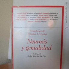 Libros de segunda mano: NEUROSIS Y GENIALIDAD. BIOGRAFIAS PSICOANALITICAS. E.D. TAURUS.. Lote 48270609