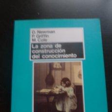 Libros de segunda mano: LA ZONA DE CONSTRUCCION DEL CONOCIMIENTO. NEWMAN.GRIFFIN Y COLE. ED. MORATA 1996 173 PAG. Lote 48557664