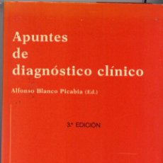 Libros de segunda mano: PSICOLOGIA. APUNTES DE DIAGNOSTICO CLINICO. ALFONSO BLANCO PICABIA. Lote 48565775