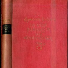 Libros de segunda mano: BUHER : LA VIDA PSIQUICA DEL ADOLESCENTE (ESPASA CALPE, 1947) . Lote 48693178