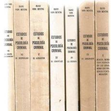Libros de segunda mano: HANS VON HENTIG. ESTUDIOS DE PSICOLOGÍA CRIMINAL. SIETE TOMOS. RM69715. . Lote 49935314