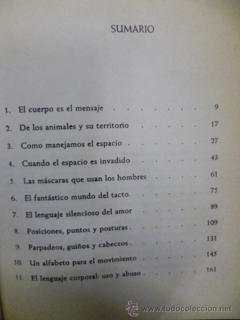 Libros de segunda mano: EL LENGUAJE DEL CUERPO. FAST, Julius. 1979 - Foto 3 - 220657503