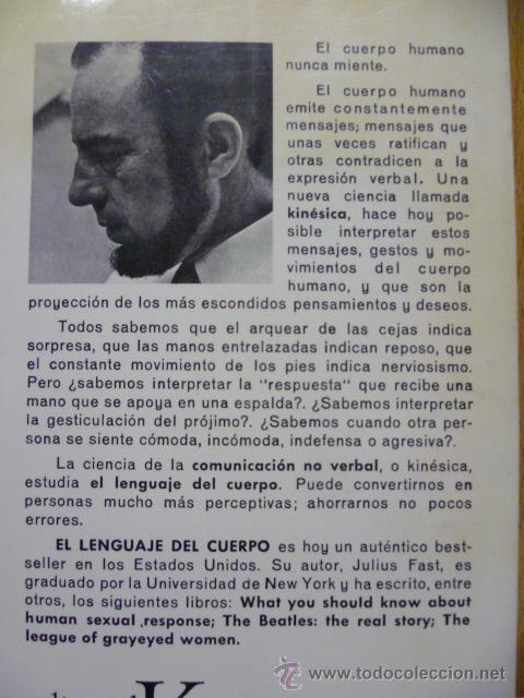 Libros de segunda mano: EL LENGUAJE DEL CUERPO. FAST, Julius. 1979 - Foto 4 - 220657503