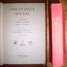 Libros de segunda mano: KRECH, DAVID. PSICOLOGÍA SOCIAL. Lote 50646881