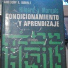 Libros de segunda mano: CONDICIONAMIENTO Y APRENDIZAJE. Lote 50794741