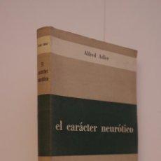 Libros de segunda mano: EL CARÁCTER NEURÓTICO, ALFRED ADLER. Lote 51385121