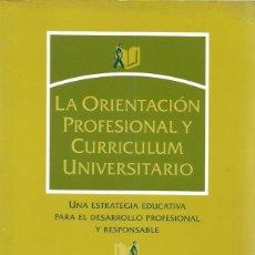 Libros de segunda mano: VIVIANA GONZÁLEZ MAURA. LA ORIENTACIÓN PROFESIONAL Y CURRICULUM UNIVERSITARIO. RM71688. . Lote 52321136