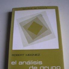 Libros de segunda mano: EL ANÁLISIS DE GRUPO. PERSPECTIVAS EXISTENCIALES. Lote 52441708