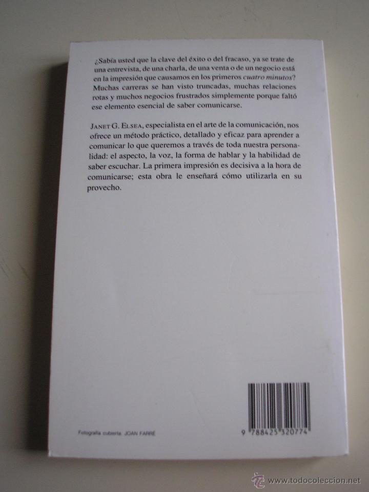 Libros de segunda mano: La primera impresión. Una estrategia práctica para comunicarse mejor - Foto 2 - 52441925