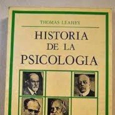 Libros de segunda mano: HISTORIA DE LA PSICOLOGIA THOMAS HARDY LEAHEY. Lote 53147975