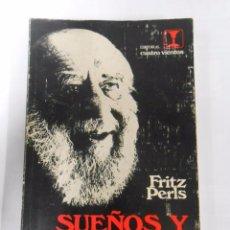 Libros de segunda mano: SUEÑOS Y EXISTENCIA. - PERLS, FRITZ. TDK103. Lote 53349050
