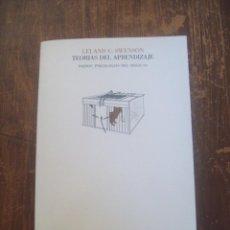 Libros de segunda mano: SWENSON, TEORÍAS DEL APRENDIZAJE.. Lote 54361521