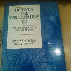Libros de segunda mano: HISTORIA DEL PSICOANÁLISIS. VOL. 1. ORIGEN Y NOCIONES CENTRALES (BARCELONA, 1984). Lote 54410076