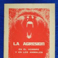 Libros de segunda mano: LA AGRESIÓN EN EL HOMBRE Y EN LOS ANIMALES. ROGER N. JOHNSON. MANUAL MODERNO, MÉXICO, 76. PSICOLOGÍA. Lote 54596595