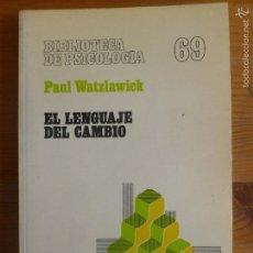 Libros de segunda mano: EL LENGUAJE DEL CAMBIO. PAUL WATZLAWICK. HERDER. 1989 154PP. Lote 55572721