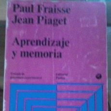 Libros de segunda mano: APRENDIZAJE Y MEMORIA.. Lote 55858122